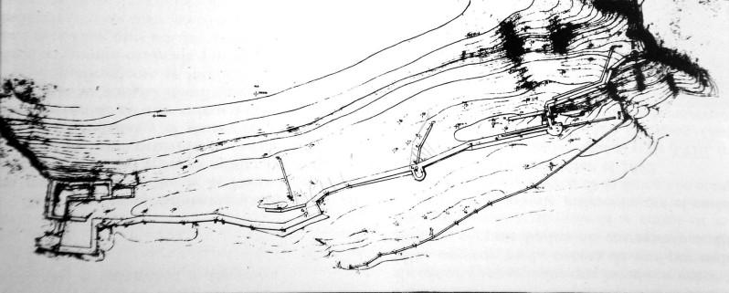 Plano topográfico del castillo de Chulilla