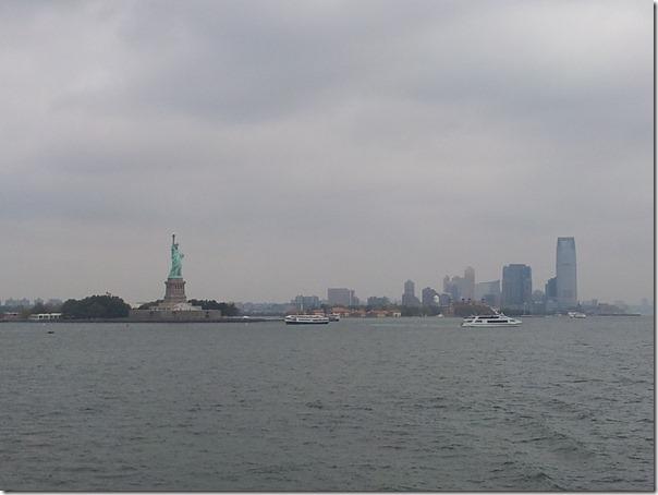 New York desde el camino a Staten Island