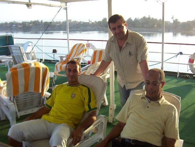 Los guías Moises y Kaled y yo verano de 2005