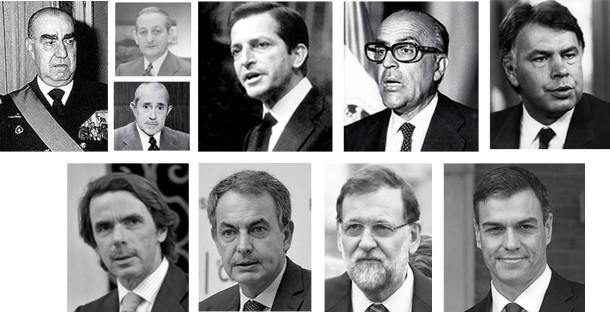 PRESIDENTES ESPAÑOLES
